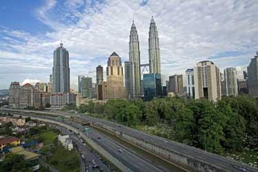 Malaysia mit Singapur, Brunei und Borneo