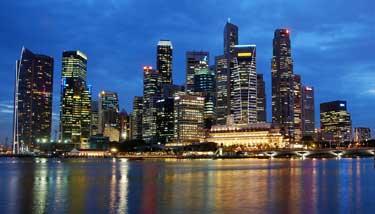 Meeresbrise und Singapur