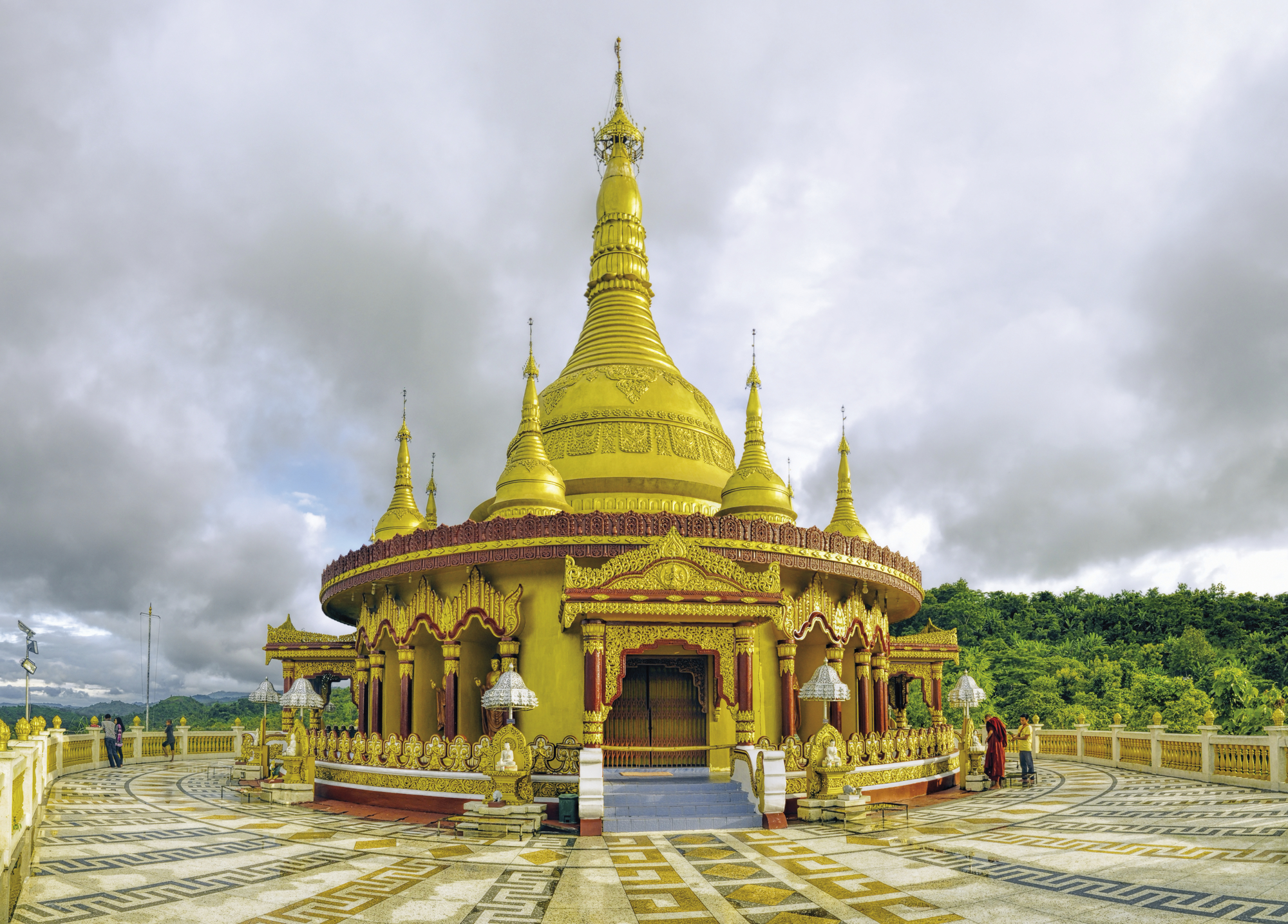 Buddhistischer Tempel in Banderban