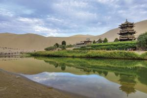 Mondsichel-See in Dunhuang