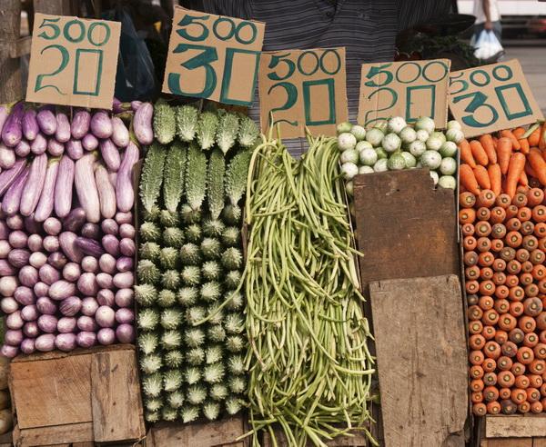 Gem?se auf dem Markt in Sri Lanka