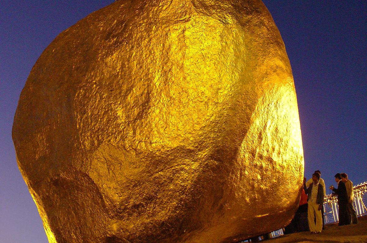Goldener Felsen