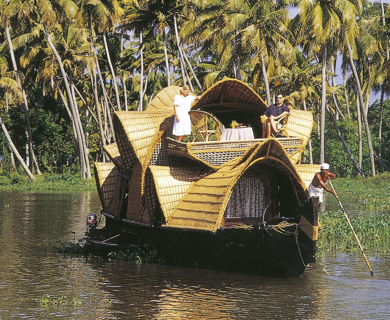 Im Hausboot in den Backwaters, Kerala