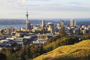 Blick vom Mt. Eden auf Auckland