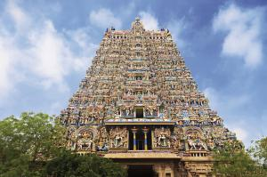 Madurai Meenakshi Tempel Gate Tower