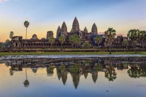 Die großartige Tempelanlage Angkor Wat