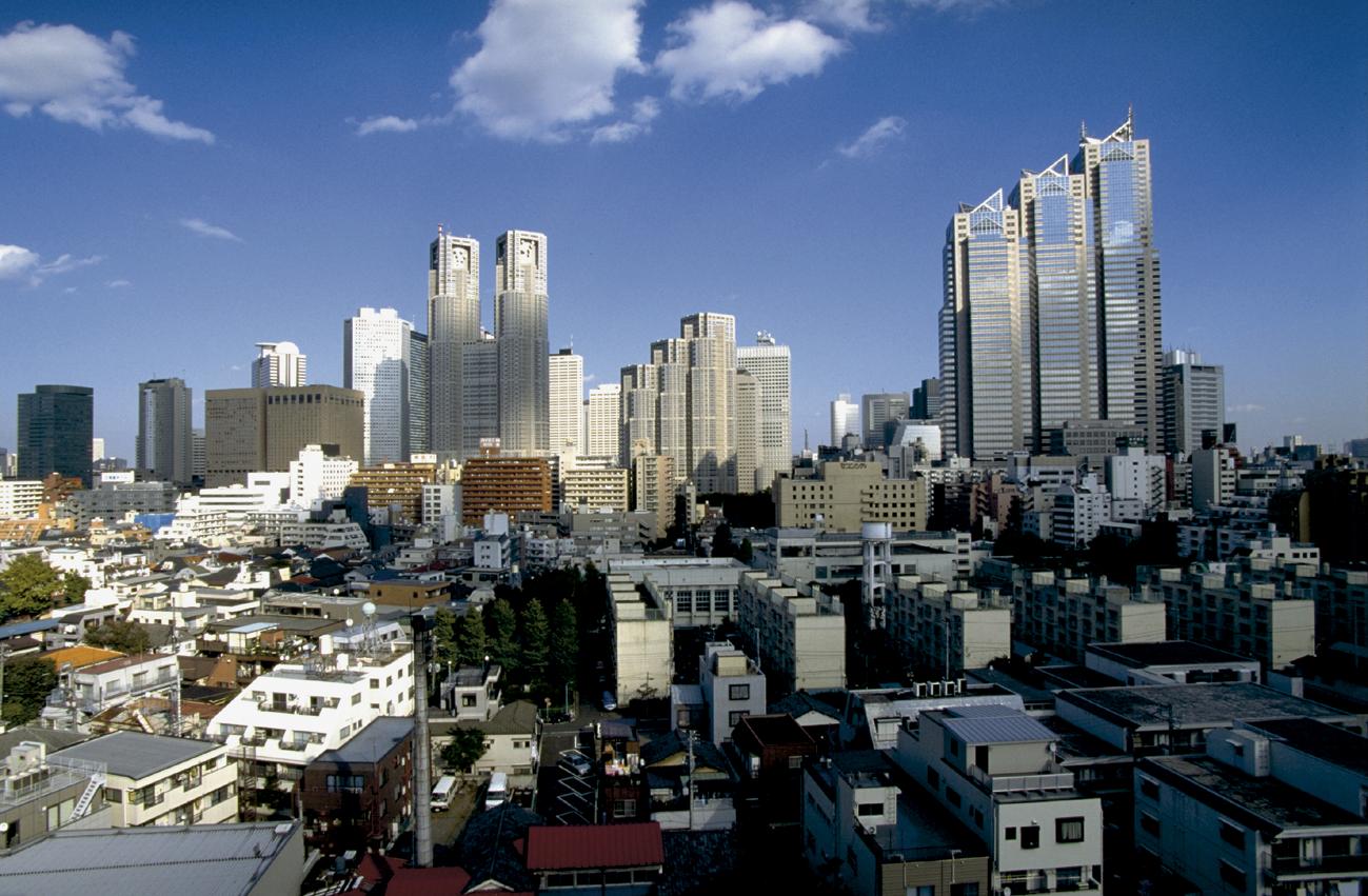 Ausblick auf die Skyline Tokyos