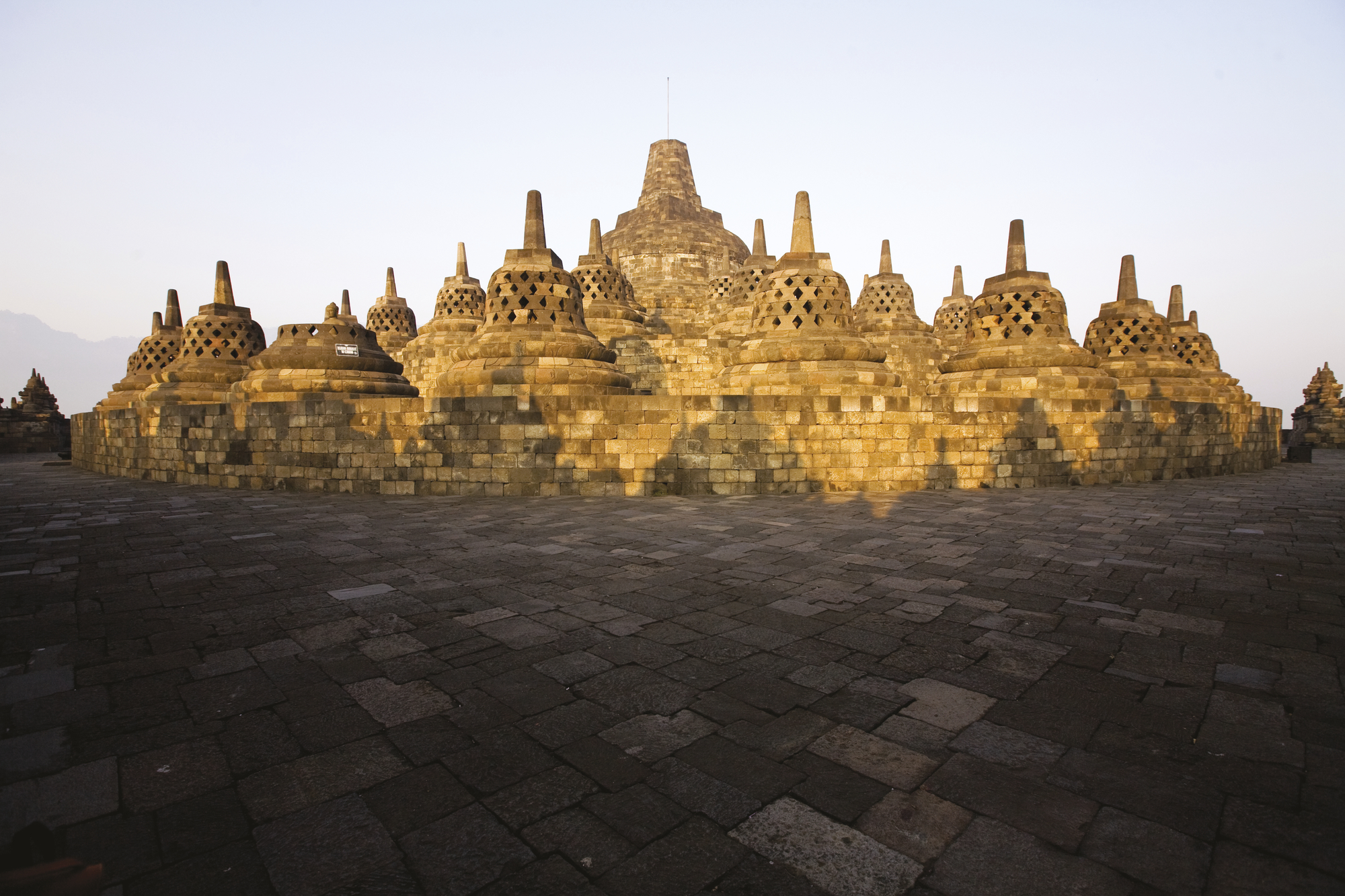 Blick auf Borobudur