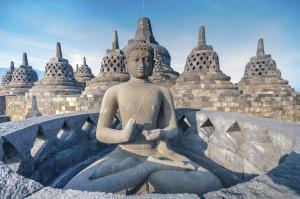 Buddha Statue im Tempel von Yogyakarta
