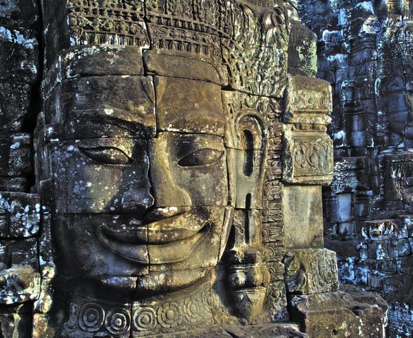 Gesicht des Bayon Tempels