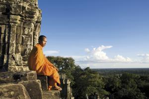 Mönch in Angkor