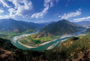 Erste Biegung des Yangtze in Yunnan