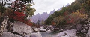 Herrliche Naturlandschaft in Korea