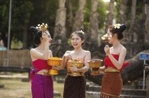 Freundliche Begegnung in Laos