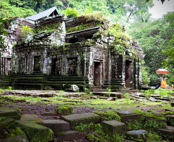 Ruinen der Tempelanlage Wat Phou s?dlich von Pakse