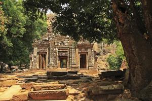 Am Heiligtum des Wat Phou in Süd-Laos