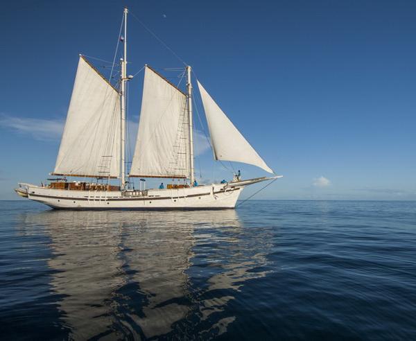 Das Segelschiff Raja Laut