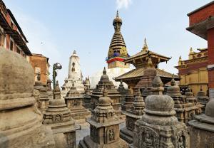 Stupa von Swyambhunath, Kathamndu