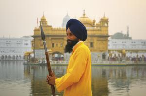 Sikh-Wärter am Goldenen Tempel
