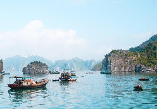Fischerdorf Vietnam