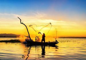 Fischer im Sonnenuntergang,Fischer im Sonnenuntergang