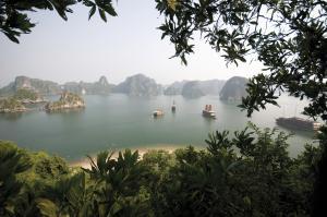 Blick auf die Halong-Bucht im Norden Vietnams