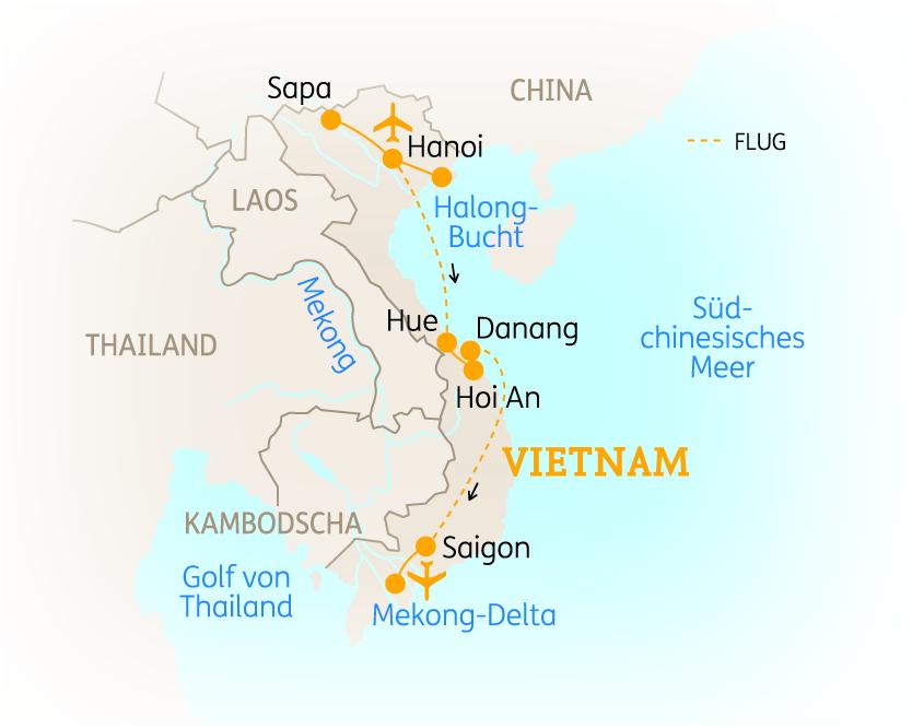vietnam h hepunkte von den bergv lkern bis zum mekong. Black Bedroom Furniture Sets. Home Design Ideas
